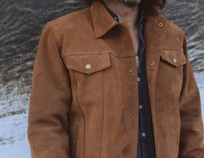 veste homme, Veste en daim, veste cuir homme, veste hiver homme, veste sur mesure homme, veste daim marron, Black Friday, Cadeau Noel Homme